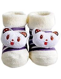 Jiajia bebé recién nacido Cute 3d animal algodón tobillo Calcetines para 0–6meses