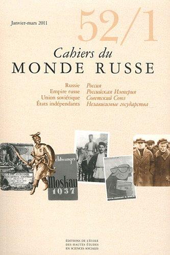 Cahiers du Monde russe, N° 52/1, Janvier-Mar :