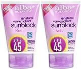 Alba Botanica SPF 45 Sunblock for Kids, 4 - Best Reviews Guide
