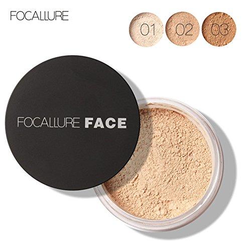 3 Types Focallure Nouveau Visage Huile Contrôle Anti-sueur Maquillage Longue Durée Lâche Poudre Cosmétique(2#)
