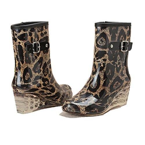 Mode léopard bottes de pluie leopard