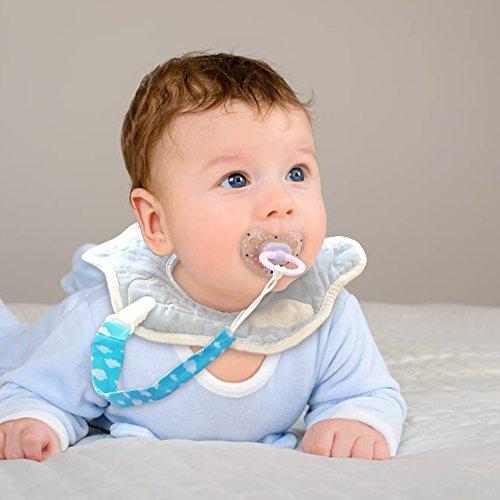 Schnullerband Baby Schnullerketten 6er Nuckelketten Junge Mädchen für Schnur Lätzchen Dreieckstuch mit Clips Baumwolle YOOFOSS (Junge)