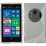 PhoneNatic Case für Nokia Lumia 1020 Hülle Silikon grau S-Style + 2 Schutzfolien