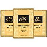 Aster Luxury Lemongrass Premium Handmade Bathing Bar - Set of 3 (125g each)