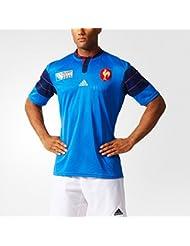 adidas FFR RWC H JSY - Camiseta para hombre, color azul / azul marino / rojo, talla S