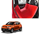 Auto Pearl - Premium Make Red Black Car Rear Seat Pet Cover For - Mahindra KUV 100
