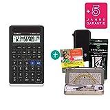Streberpaket: Casio FX 82 Solar II + Schutztasche + Lern-CD (auf Deutsch) + Geometrie-Set + Erweiterte Garantie