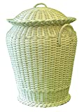 Blanco Ali Baba mimbre cesta para la ropa sucia (