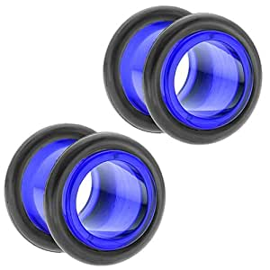 freshtrends 00 g 10 blau acryl tunnel plugs earlet ohr plugs paar freshtrends. Black Bedroom Furniture Sets. Home Design Ideas