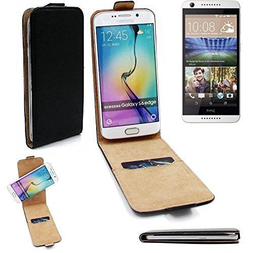 HTC Desire 620G Dual SIM Flipstyle Schutz Hülle 360° Smartphone Tasche, schwarz, Case Flip cover - K-S-Trade