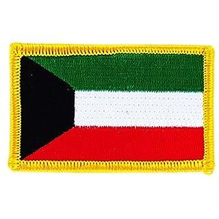 Aufnäher zum Aufbügeln, bestickt mit der Flagge von Kuweit