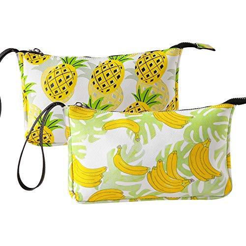 1 bis 3 Stück Kosmetiktasche mit wasserdichtem Stoff Mandala-Toiletry-Set für Frauen mit Reißverschluss für Reisen 2PCS Fruit