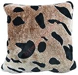 """Funda de cojín, hecha de piel sintética con diseño «animal print», con cremallera, suave y confortable, 100% poliéster/poliéster, tigre, Pack of 4 (18"""" x 18"""")"""