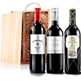 Sendagift by Virgin Wines Classic Red Wine Gift Trio In Wooden Gift Box
