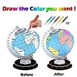 TianranRT 3D Globus Modell Magie DIY Montage Zeichnung Tafel Kind Pädagogisch Spielzeug