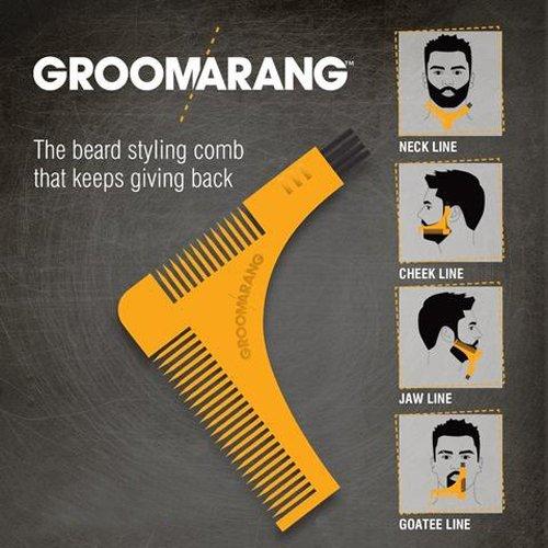 Bild des Produktes 'GROOMARANG Beard shaping und styling template comb, 1er Pack (1 x 18 g)'