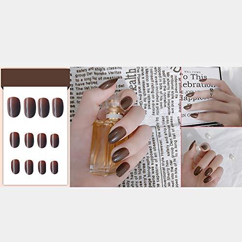 Fake Nail Patches - Fake Nail Sticker, einfarbig, glänzend, 37 Farben erhältlich, 24 Stück - Stiefel Frauen, Spitze Quadratische Für