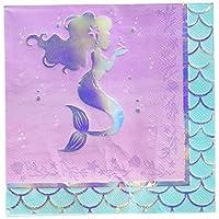 Creative Converting 336715 Iridescent Mermaid Party Napkins, Purple