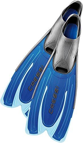 Cressi Agua, Aletas de snorkeling Unisex, Azul, 37-38