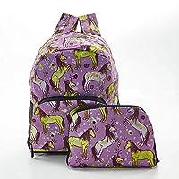 Faye UK Ltd. Eco-Chic Foldable Expandable Mini Backpack Purple Unicorn