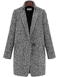 c68a76ca74fc5 YOGLY Manteau Femme Hiver Blouson en Laine Veste Manches Longues Chaud  Épais Hiver Grande Taille S