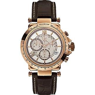 Guess Reloj Cronógrafo para Hombre de Cuarzo con Correa en Cuero X44001G1
