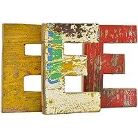 Fantastik - Letra de madera reciclada (E)