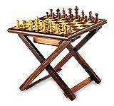 Stylla India Wooden Cross Leg Coffee Table Chess Sheesham Wood