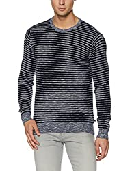United Colors of Benetton Mens Cotton Sweater (8903975469419_17A1CTNJ1005I901L_Black)