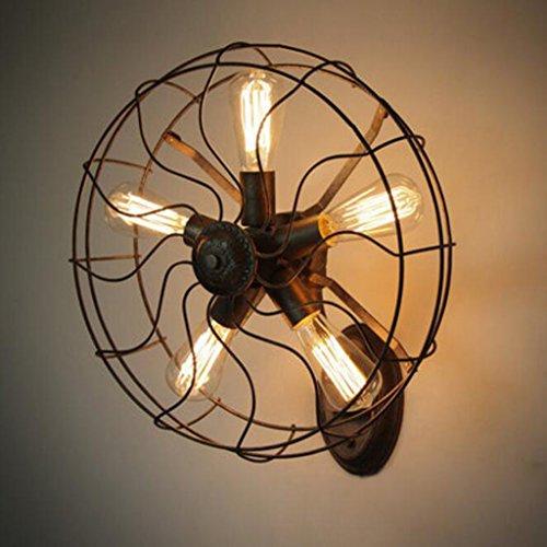 JBZP viento industrial retro estadounidense para hacer el antiguo hierro creativo lámpara de pared...