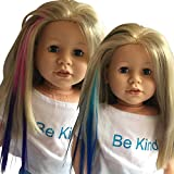 Clip In Hair Extensions Light Blue/Blue & Pink/Purple For 18 Inch Dolls And American Girl Dolls - Doll Wig Piece In Light Blue/Blue & Pink/Purple- Hair Extensions For 18 Inch Dolls By The New York Doll Collection