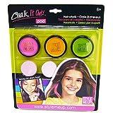 Haar-Kreide, schonend Haare färben, ganz einfach auswaschbar, 3 Dosen im Set inkl. Schwämmchen, in Pink