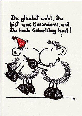 Geburtstagskarte Sheepworld Du glaubst wohl, ...