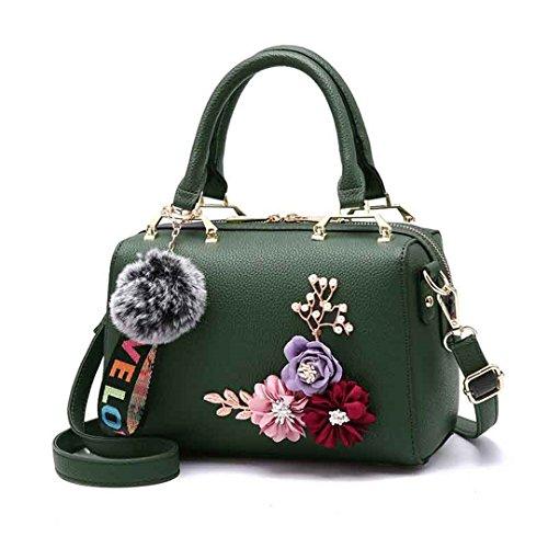 Frauen Taschen Großhandel Handtaschen Wild Temperament Bequeme Beiläufige Tasche Green 20cm*Max Length*30cm