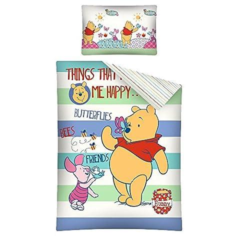 Parure de lit bébé Winnie L'ourson Disney - housse de