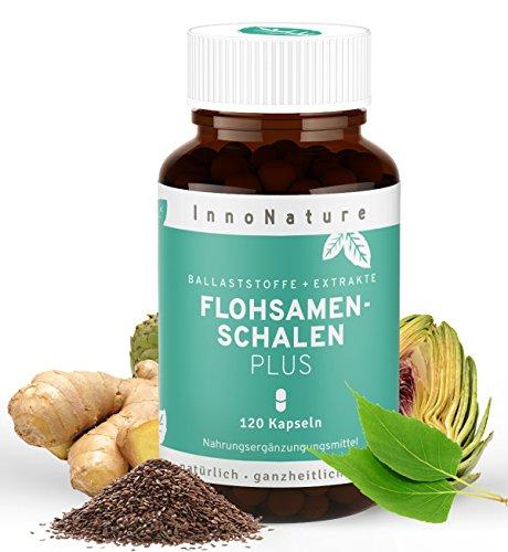 Flohsamenschalen Plus 120 Kapseln im 1-Monatsvorrat. Flohsamenschalen + pflanzliche Extrakte, Hochdosiert, vegan und hergestellt in DE.