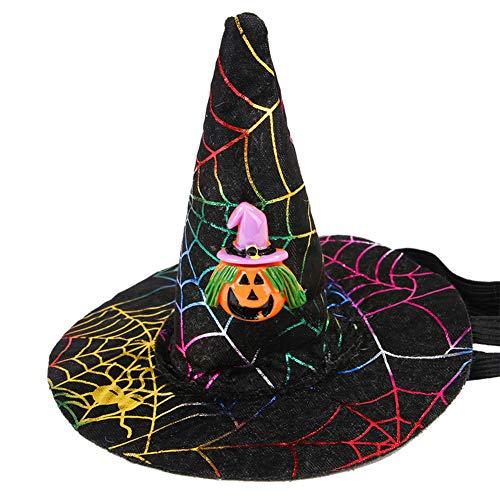 Saniswink Zylinder Für Ihr Haustier, Halloween-Haustier-Hundekatze-Schläger-Eulen-Kürbis-Druck-Hut-Kappe Lustiges Party-Kostüm Headware - Schrecklich Herren Kostüm
