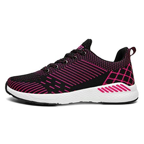Xiduoduo Mens Donna Casual Scarpe Traspiranti Scarpe Da Corsa Sneakers Estate Sneakers 35-48 Rose Red1