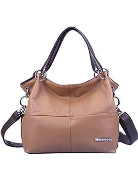 Weidipolo Super-PU-Leder Handtasche / Umhängetasche getragen / Schultertasche Bag Modische Frauen-Hell Braun