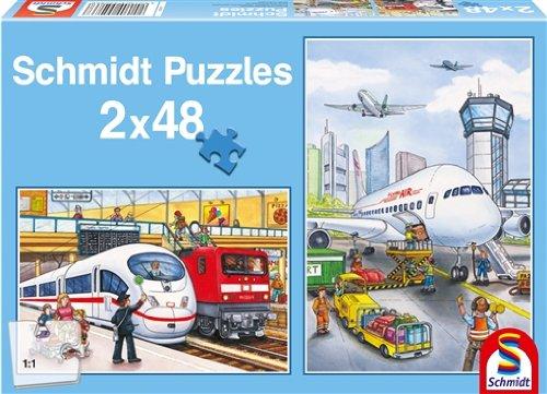 Schmidt Spiele 55086  - Airport & Farm, de 2 x 48 Piezas