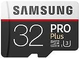 Samsung PRO Plus Micro SDHC 32GB bis zu 100MB/s, Class 10 U3 Speicherkarte (inkl. SD Adapter) [Amazon Frustfreie Verpackung]