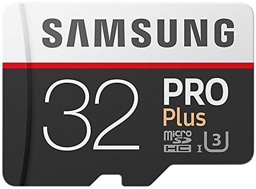 Samsung PRO Plus Micro SDHC 32GB bis zu 100MB/s, Class 10 U3 Speicherkarte (inkl. SD Adapter) [Amazon Frustfreie Verpackung] (Samsung Pro Sdhc-speicherkarte)