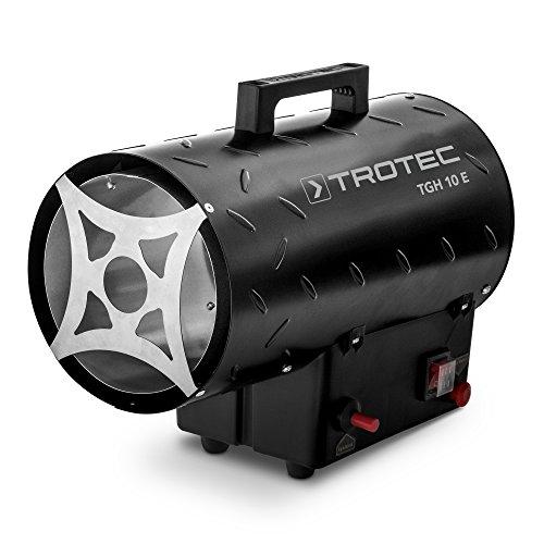 TROTEC Gasheizgebläse TGH 10 E Gas Heizgerät inkl. Verbindungschlauch und Druckminderer 10 kW für handelsübliche Gasflaschen