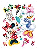 1art1 75265 Walt Disney - Minni Maus Und Daisy Duck, Make Up Wand-Tattoo Aufkleber Poster-Sticker 65 x 42 cm
