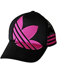 Adidas Originals Gorra Adult Trefoil Gorra Béisbol Old School Sombrero Black/Pink Talla Única Adult Gorra Nuevo O52674