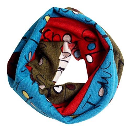 Culater® I bambini cotone caldo Sciarpa dello scialle inverno Bandana (Blu)
