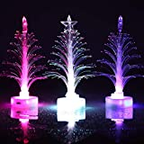 Bangle009 Popular Christmas LED Light Multicolor Xmas Tree Fiber Optic Lamp Home Party Decor Gift - White Shell