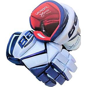 Bauer Vapor X800 Handschuhe Junior MTO, Größe:10 Zoll, Farbe:weiss/blau
