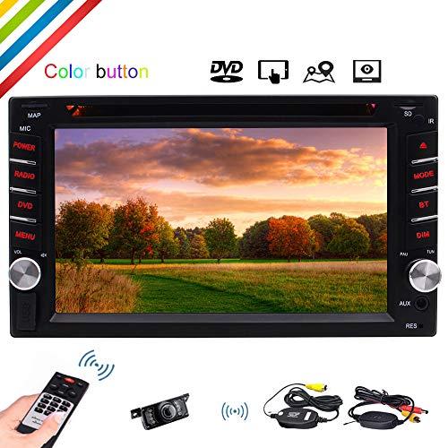 In Dash 6.2-Zoll 5 Punkte kapazitiven Touch-Screen-Auto-DVD-CD Muti-Media-Player Auto-Radio Bluetooth Lenkrad-Steuerung / USB / TF / FM / AM + Fernbedienung & Wireless R¨¹ckseiten-Kamera inklusive!