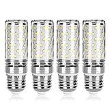 Wedna E27 LED maíz bombilla, 15W Blanco Frío, 120W Incandescente Bombillas Equivalentes, 1500Lm, Edison tornillo bombillas, No regulable - 4 unidades